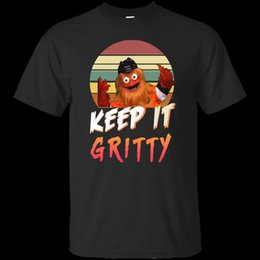51144ebbd05 Retro Vintage Hockey Keep It Gritty Flyers Mascot Black T-Shirt Mens Women  Men Women Unisex Fashion tshirt Free Shipping