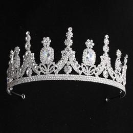 celtic crowns tiaras 2019 - New Bridal Classical Couronne De Mariage Crowns 2019 Luxury Elliptical Zircon Wedding Party Big Crown For Women JCI087 d