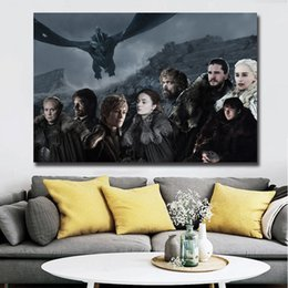 $enCountryForm.capitalKeyWord NZ - Game Of Thrones Season 8 Kit Harrington HD Poster Canvas Painting Oil Framed Wall Art Print Pictures For Living Room Home Decoracion