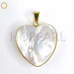 $enCountryForm.capitalKeyWord Australia - natural gemstone romantic heart jewelry white mother of pearl puff heart white shell ocean themed jewellery