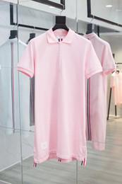 $enCountryForm.capitalKeyWord Australia - Dress Pearl Cotton Back Red White and Blue Ribbon Short-sleeved Polo Shirt Turn-lapel Loose Medium-length Skirt