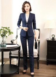office jackets for ladies 2019 - High Quality Office Uniform Designs for Women Business Suits with Pant and Jacket Set Ladies Work Wear Blazer cheap offi