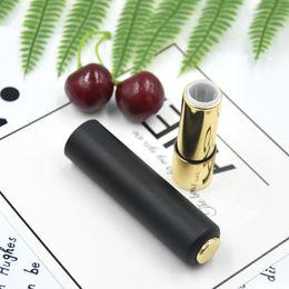 $enCountryForm.capitalKeyWord Australia - Black Press Lipstick Tube Diy Empty Lip Balm  Gloss Pipe Shell Cosmetic Packaging Container Fast Shipping F285