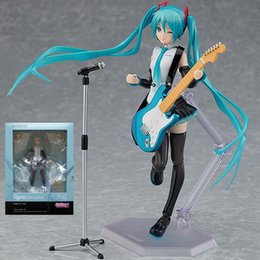 angels figures Canada - Miku Figma 394 Hatsune Miku DIY Assembly Guitar Angel Heroines PVC Action Figures toys Anime figure Toys For Kids children gifts