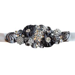 $enCountryForm.capitalKeyWord Australia - 1pc Bridal Belt Wedding Dress Belt Pearl Rhinestone Elegant Ribbon Belt for Bride Woman