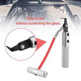 car window rubbers NZ - Car Windshield Remover Automotive Window Glass Seal Rubber Removing Tool Metal Glass Knife Repair Tool Car Hand