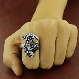 Punk Rings Australia - Hot Sale The Sons Of Anarchy Rings Men Rock Accessories Punk Halley Motorcycle Ride Ring Cosplay Props C19041101