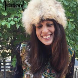 8eb4183a21d006 1PC Fur Hats for Women Men Unisex Russian Winter Warm Caps Ladies Soft  Comfort Faux Fox Fur Snow Hat Female Charm Beanies Caps D19011503