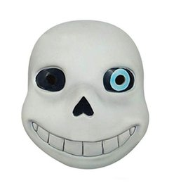 $enCountryForm.capitalKeyWord Australia - Latex Full Head Latex Sans Mask Cosplay Skull Mask Hood Masque Halloween Adult Kids Undertale Sans Masks Helmet Fancy Dress Game prop white