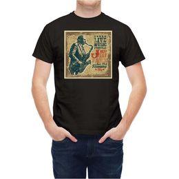 Music Man T Shirt Australia - T-shirt Music Retro Style Jazz Havana Club Mans Unique Cotton Short Sleeves O-Neck T Shirt Funny Tees Men Short