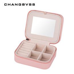 $enCountryForm.capitalKeyWord NZ - PU Leather Jewelry Casket Jewelery Accessories Packaging Box Jewelry Storage Case Travel Case Ring Earrings Necklace Storage