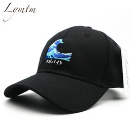 $enCountryForm.capitalKeyWord Australia - Chic Harajuku Waves Embroidery Baseball Cap Japanese Style Men Women Casual Curved Breathable Snapback Sun Hats Bone Streetwear