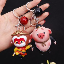 clear acrylic glasses frames Australia - Cute pig key button cartoon car key button cartoon doll bag hang a holiday gift