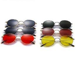 Novos óculos de sol do vintage óculos de sol óculos de armação metálica rodada óculos de sol dos homens e mulheres universal suneyewear frete grátis