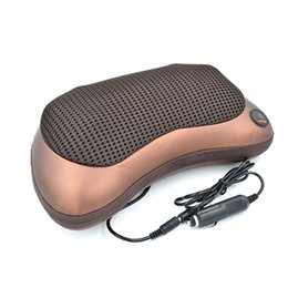 muscle cars NZ - Far Infrared Neck Massager Vibration kneading Car Magnetism therapy massager Pillow Cervical lumbar leg Muscle Relaxation