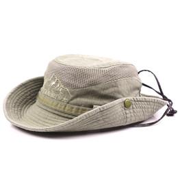 ccd4a80ba77 2019 New Men Women s Climbing Hat Anti-UV Sun protection Outdoor Wide Brim  Side Snap Chin Cord Fishing Hiking Cap A
