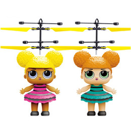 $enCountryForm.capitalKeyWord Australia - NEW induction flying toy Little girl doll flying fairy suspended luminous crystal ball helicopter induction plane as children's toys