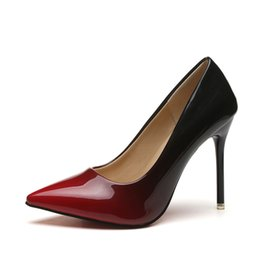 cfe330254689 Designer Dress Shoes Pumps Women2019 pointed sexy high heel shallow mouth  wine glass with fine with breathable single female