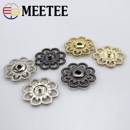 press snap fasteners 2019 - Meetee Hollow Metal Snap Buttons 21 25mm Fastener Press Stud Buckle DIY Coat Clothes Sewing Application Accessories D3-2