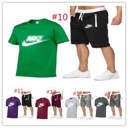 $enCountryForm.capitalKeyWord Australia - Mens N&K Letter Print Tracksuit Designer Summer 2 Pieces Sets T-shirt+shorts Suit Mens Luxury Shorts Set Outfit Sportswear Cloth C62605