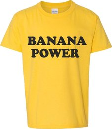 Wholesale Banana Power T Shirt s Slogan Retro Counter Culture Cult Men Women Unisex Fashion tshirt