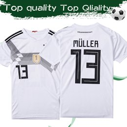 e9f653ff4 2019 GERMANY Home White Soccer Jersey 2018 #13 MULLER #8 KROOS #5 HUMMELS  #11 WERNER Football Shirt Germany National Soccer Uniforms Sales