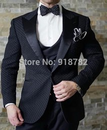 elegant tuxedos for men NZ - New Design 2019 black Elegant Brand Slim Fit Smoking Suit Men Costume 3 Pieces Homme White Prom Tuxedo Groom Suits For Men Wedding