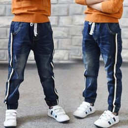 $enCountryForm.capitalKeyWord Australia - Hot Sale 2019 Autumn New Kids Jeans Elastic Waist Stretch Denim Pants Children Clothing For 4-14yrs Big Virgin Korean Pants Feet Y19062401
