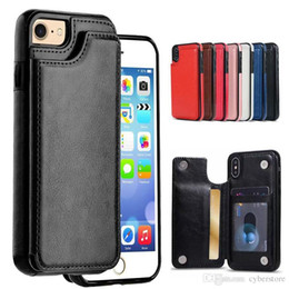 Slim Phone Wallet Australia - For iPhone XS MAX XR X 8 7 Wallet Leather Phone Case Card Slots Slim Multi-functional Folio Stand Shockproof For Samsung S10 Plus