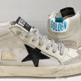 fd0eedb893ef45 Italy Korean style Handmade Deluxe Brand GGDB High help Golden Goose MID  STAR Genuine Leather Fashion Men and women Casual Shoes
