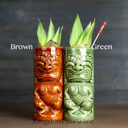 hot mugs Canada - Maori Totem Home Decoration Tiki Mug Ceramic Cup Hot Sale Beer Cup Coffee Mug Tiki Cup Ceramic