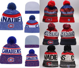 Discount ice caps beanies - 2019 New Arrival Embroidered Team Logo Sport Ice Hockey Vintage Montreal Canadiens Knitted Beanies Women's Winter W