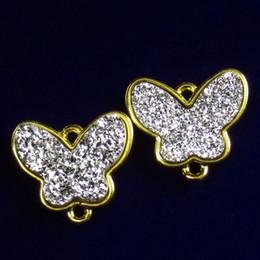 $enCountryForm.capitalKeyWord Australia - 2Pcs White Titanium Crystal Agate Druzy Quartz Geode Butterfly Pendant Bead