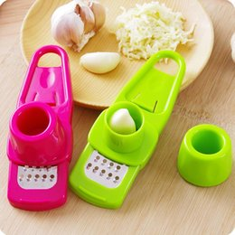 Mini Slicer Cutter Australia - Multifunction Plastic+Stainless Steel Garlic Press Mini Ginger Grinding Grater Garlic Crusher Peeler Press Grater Slicer Cutter LX6739