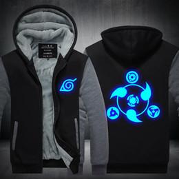7e2d122ad02f6 Men Casual Thicken Hooded Sweatshirts Luminous Anime Naruto Print Cotton Zipper  Hoodies Winter Cardigan Jacket Coat Pullover USA EU Size