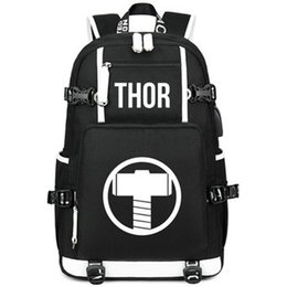 f62fee3f5324 Quake backpack Thor day pack Heavy hammer school bag Super hero packsack  Laptop rucksack Sport schoolbag Out door daypack