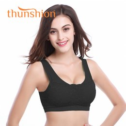 bra design strap NZ - Thunshion Womens Sports Fashion Lace Bra Breathable Widened Shoulder Straps Impact Bra for Running Yoga Gym With U design