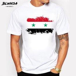 6367357a2 Blwhsa Summer Flag T Shirts Men Fashion Short Sleeve 100% Cotton Brand Design  T-shirts Funny Syria Tops Tees Clothing C19040302