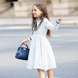 kids dresses for girls 16 NZ - Teenaeg Summer Spring Clothes White Girl Dresses Princess Kids Lace Party Dress Children For Girls 6-16 YearsMX190823