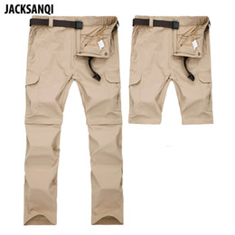 ff970fa307bc JACKSANQI Men s Pant Summer Quick Dry Removable Pant Breathable Trousers  Outdoor Sports Hiking Trekking Fishing Shorts 7XL RA071