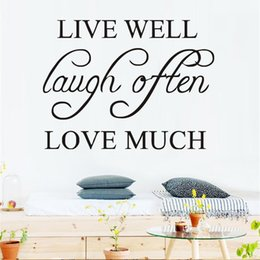 $enCountryForm.capitalKeyWord Canada - 1 Pcs Live Well Laugh Often Love Much Simple Sentence Wall Sticker Pvc Removable Quotes Diy Wall Art Home Decor Living Room Decoration