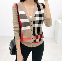 Wholesale knitted outerwear for sale - Group buy Fashion Knit Sweater Women Clothing Spring New Long Sleeve V neck Single breasted Cardigan Sweater Women s Coat Casual Outerwear