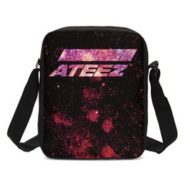 f7be07999153 Crossbody Bags For Girls Fashion Korea Group ATEEZ Letter 3D Printing Sling  Bags Small Shoulder Messenger Sac A Main