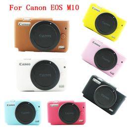 Toptan satış Canon EOS M10 Kamera Kapak Yumuşak Silikon Kamera Koruyucu Vücut Çanta Kılıf için
