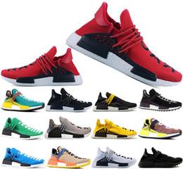 Human Race Pharrell NZ - 2019 Human Race Hu trail pharrell williams Running shoes Men Nerd black cream mens trainer women designer sports sneakers US 5-12