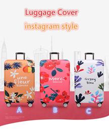 Vente en gros Plus épais élastique valise protecteur voyage housse de bagages fit fleurs et plantes de style