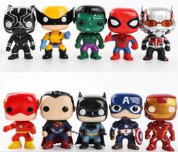 Characters Figures Australia - New Marvel 10pcs set DC Justice action figures League & Marvel Avengers Super Hero Characters Model Vinyl Action & Toy Figures for Children