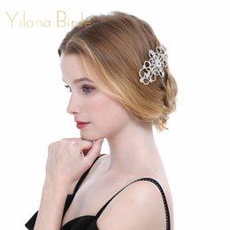 $enCountryForm.capitalKeyWord NZ - European Design Floral Wedding Hair Accessories Silver Color Crystal Bridal Hair Comb Party Jewelry Christmas Gift