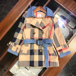 $enCountryForm.capitalKeyWord Australia - Children windbreaker kids designer clothing male girl color matching plaid coat autumn long sleeve large lapel coat