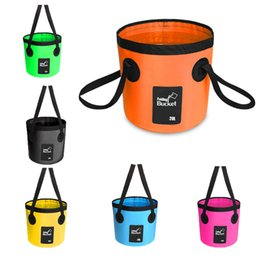 Black Swimming Toys Australia - Folding Water Bucket Folding Water Container Lightweight Durable Buckets for Camping Hiking Travel Fishing Sand Bucket Toys Children M238Y